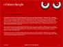 Cartoon Evil Red Eyes on Red Background Presentation slide 4