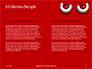 Cartoon Evil Red Eyes on Red Background Presentation slide 5