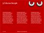 Cartoon Evil Red Eyes on Red Background Presentation slide 6