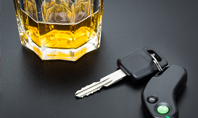 Car Key on the Bar with Alcohol in Glass Presentation Presentation Template