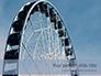 Ferris Wheel with Blue Sky Presentation slide 1