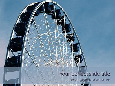 Ferris Wheel with Blue Sky Presentation Presentation Template, Master Slide