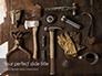 Set of Old Used Tools Presentation slide 1