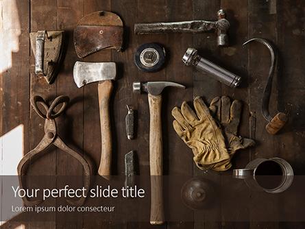 Set of Old Used Tools Presentation Presentation Template, Master Slide