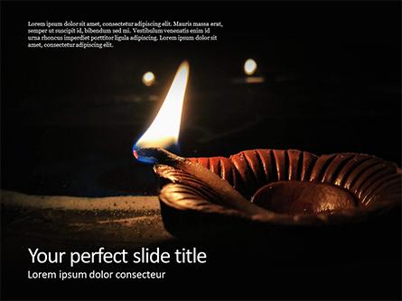 Diwali Diya Presentation Presentation Template, Master Slide
