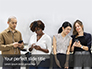 Group of Diverse People using Smartphones Presentation slide 1