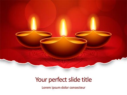 Elegant Happy Diwali Background Presentation Presentation Template, Master Slide