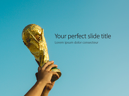 World Cup Trophy Presentation Presentation Template, Master Slide