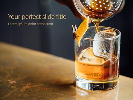 Whiskey Cocktail Presentation Presentation Template, Master Slide