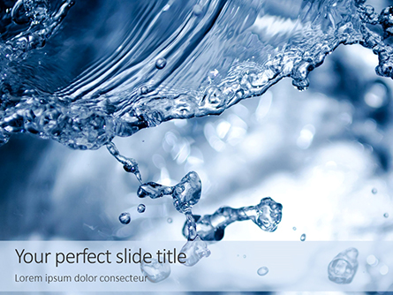 Closeup Water Splash Presentation Presentation Template, Master Slide
