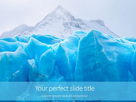 Huge Blocks of Ice Presentation Presentation Template, Master Slide