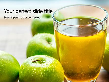 Fresh Organic Green Apple Juice Presentation Presentation Template, Master Slide