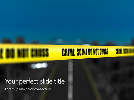 Crime Scene on a Highway Presentation Presentation Template, Master Slide