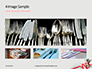 Fork Knife Spoon with Red Checked Tape Presentation slide 13