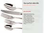 Fork Knife Spoon with Red Checked Tape Presentation slide 9