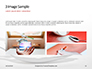Spoon with Sugar and Syringe on White Background Presentation slide 12
