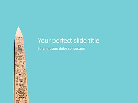 Luxor Obelisk Presentation Presentation Template, Master Slide