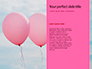 Woman with Pink balloon Instead of Her Face Presentation slide 9