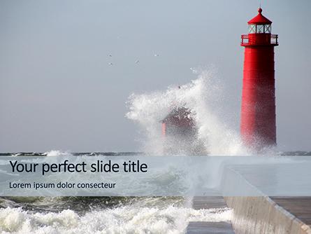 Grand Haven Lighthouse Presentation Presentation Template, Master Slide