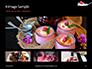 Raspberry and Milk Splashing on Spoon on Black Background Presentation slide 13