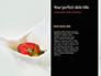 Raspberry and Milk Splashing on Spoon on Black Background Presentation slide 9