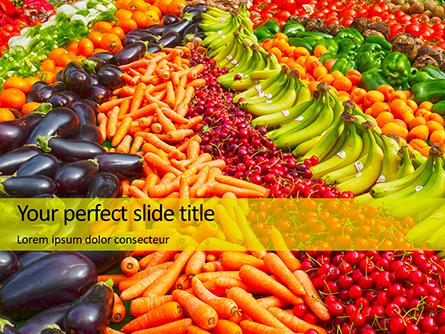 Colorful Fruits and Vegetables Presentation Presentation Template, Master Slide