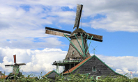 Traditional Dutch Old Wooden Windmills Presentation Presentation Template