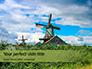 Traditional Dutch Old Wooden Windmills Presentation slide 1
