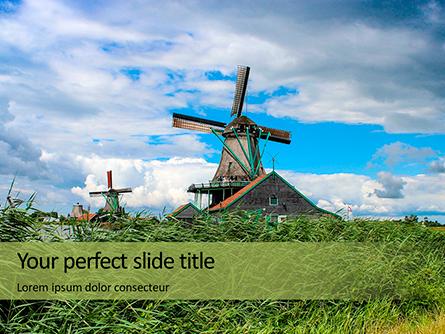 Traditional Dutch Old Wooden Windmills Presentation Presentation Template, Master Slide