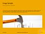 Wooden Mallet Hammer on Yellow Background Presentation slide 10