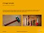 Wooden Mallet Hammer on Yellow Background Presentation slide 11
