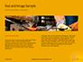 Wooden Mallet Hammer on Yellow Background Presentation slide 14