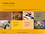 Wooden Mallet Hammer on Yellow Background Presentation slide 17