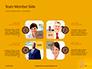 Wooden Mallet Hammer on Yellow Background Presentation slide 20