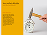 Wooden Mallet Hammer on Yellow Background Presentation slide 9