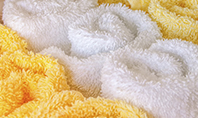 White and Yellow Wool Fluffy Towels Presentation Presentation Template