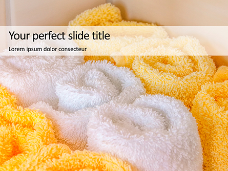 White and Yellow Wool Fluffy Towels Presentation Presentation Template, Master Slide