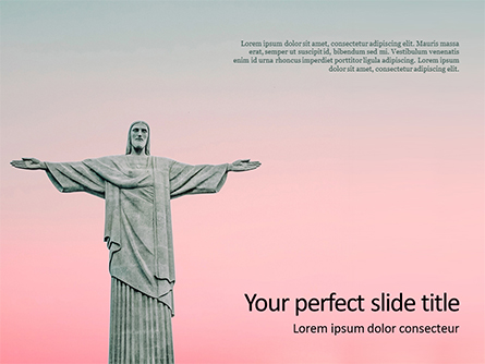 Christ the Redeemer Statue Presentation Presentation Template, Master Slide
