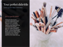 Two Makeup Brushes with Powder on Black Background Presentation slide 9