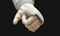 White Robot Hand Presentation Presentation Template