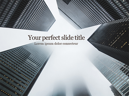 Low Angle View of Skyscrapers Presentation Presentation Template, Master Slide