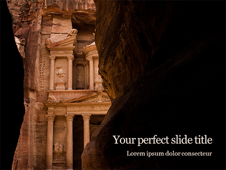 Entrance of City of Petra Presentation Presentation Template, Master Slide