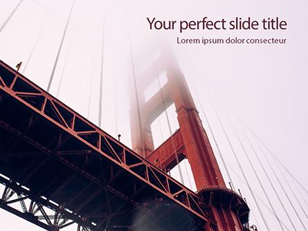 The Golden Gate Bridge From Below Presentation Presentation Template, Master Slide