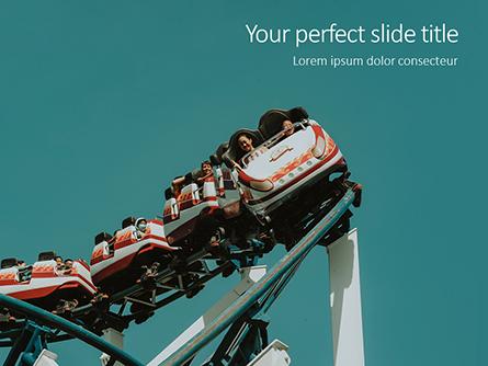 Scary Fun on Roller Coaster Presentation Presentation Template, Master Slide