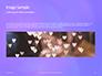 Purple Defocused Lights Background Presentation slide 10