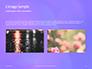 Purple Defocused Lights Background Presentation slide 11