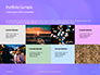 Purple Defocused Lights Background Presentation slide 17