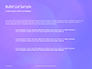 Purple Defocused Lights Background Presentation slide 7