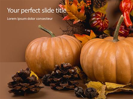 Still Life Harvest with Pumpkins and Gourds for Thanksgiving Presentation Presentation Template, Master Slide