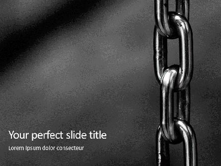 Stainless Metal Chain Presentation Presentation Template, Master Slide